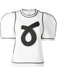 футболка с контрастной окантовкой J.W. Anderson