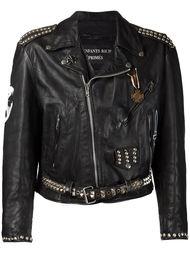 байкерская куртка с заклепками и принтом на спине Enfants Riches Deprimes