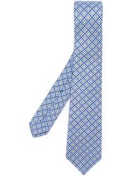 галстук с мелким геометрическим узором Kiton