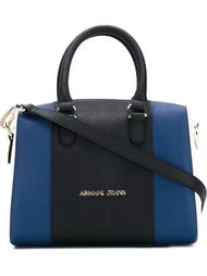 сумка-тоут в стиле колор-блок  Armani Jeans