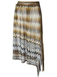 полупрозрачная юбка с узором-ёлочкой Missoni