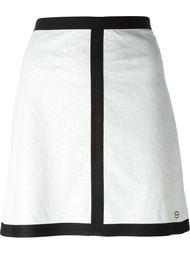 юбка с контрастной окантовкой Borbonese
