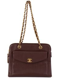 сумка на плечо с карманом спереди Chanel Vintage