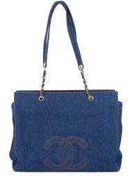 джинсовая сумка-тоут 'Jumbo XL' Chanel Vintage