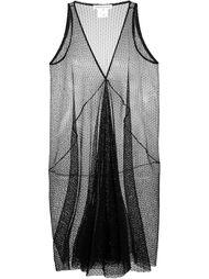 прозрачное платье c V-образным вырезом   Stefano Mortari