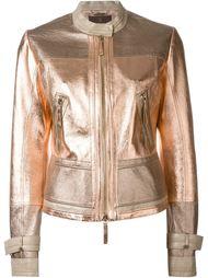 куртка на молнии с отделкой металлик Roberto Cavalli