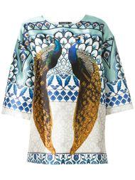 футболка с принтом павлинов Dolce & Gabbana