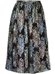 юбка миди с вышивкой Marco De Vincenzo