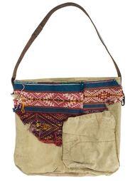 сумка на плечо в стиле пэчворк  Greg Lauren