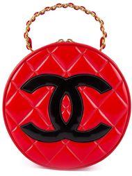 круглая сумка-тоут с лакированным покрытием Chanel Vintage