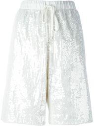 sequin embellished basketball shorts Ashish