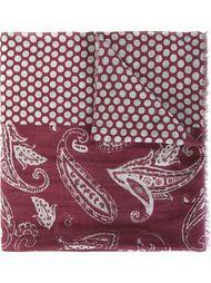 paisley polka dot print scarf Al Duca D'Aosta 1902