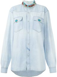 embellished denim shirt  Forte Couture
