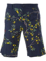 шорты с растительным принтом Dolce & Gabbana