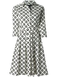circles print shirt dress Samantha Sung