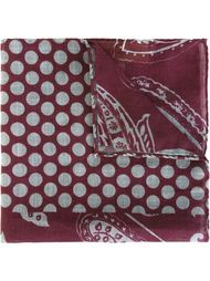 paisley polka dot print pocket square Al Duca D'Aosta 1902