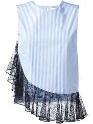 блузка с кружевной оборкой J.W. Anderson