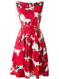 flower print belted dress Samantha Sung