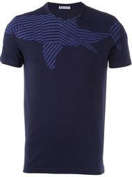 футболка с принтом акулы Moncler