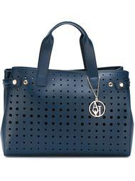 большая сумка-тоут с перфорированным дизайном  Armani Jeans