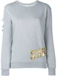 Cutout Embroidered Sweatshirt Mira Mikati