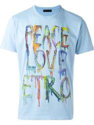 футболка с принтом 'Peace & Love'  Etro