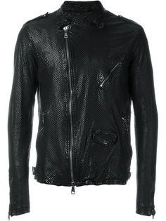 перфорированная байкерская куртка  Giorgio Brato