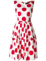 polka-dots belted dress Samantha Sung