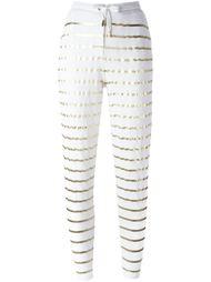 спортивные брюки с полосками металлик Zoe Karssen