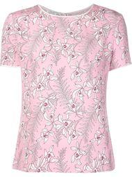 блузка с цветочным принтом  Oscar de la Renta