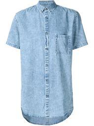 джинсовая рубашка с короткими рукавами Zanerobe