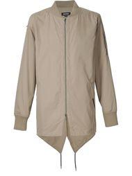 куртка-бомбер с удлиненным подолом Zanerobe