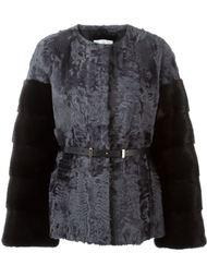 пиджак с контрастными рукавами Yves Salomon