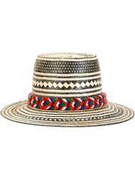 широкополая шляпа в полоску  Yosuzi