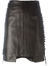 side lace-up mini skirt Aalto
