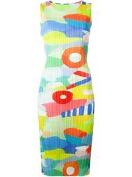 плиссированное платье с принтом  Pleats Please By Issey Miyake