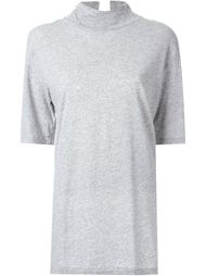 funnel neck T-shirt Bassike