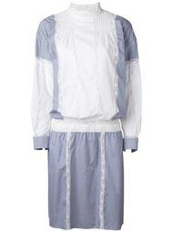 платье-рубашка с панельным дизайном Sacai