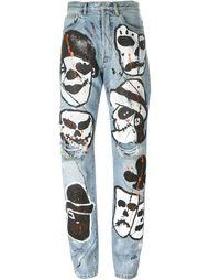 джинсы с рисунками Faith Connexion