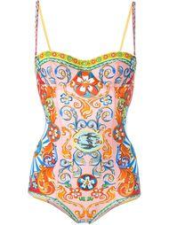 купальник с принтом Carretto Siciliano Dolce & Gabbana