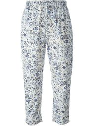 floral print cropped trousers Wunderkind