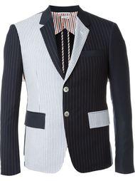 полосатый пиджак лоскутного кроя Thom Browne