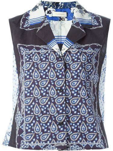 scarf print blouse Wunderkind