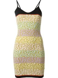 patterned leopard stripe dress Sibling