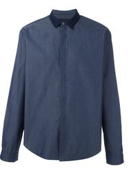 contrast collar shirt Juun.J