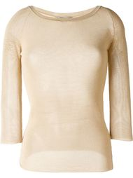 sheer knitted top Ermanno Scervino