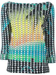 sunset print sweater  Ultràchic