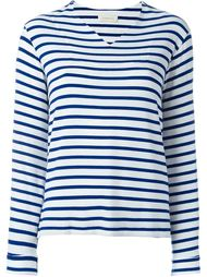 striped V-neck top Wunderkind