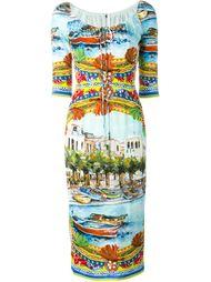 Carretto Siciliano print dress Dolce & Gabbana