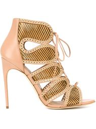 eyelets lace detailing sandals  Brian Atwood